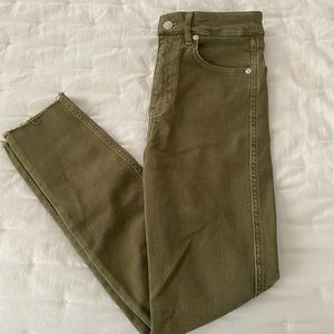 Free people hunter green pants